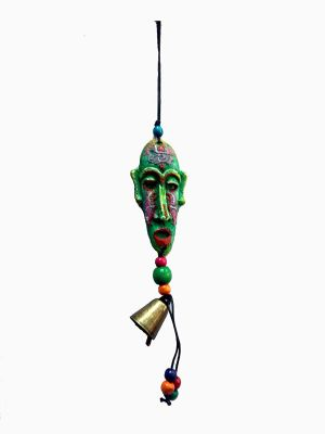 Buy Tibetan Vintage Mask & Bell Lucky Charm Hanging online