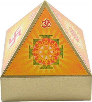 Buy Wooden Auspicious Symbols Pyramid Wish Box online