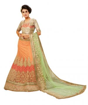 Buy De Marca Golden Colour Gota Semi Stitch Lehenga Choli (code - De Marca 411-432) online
