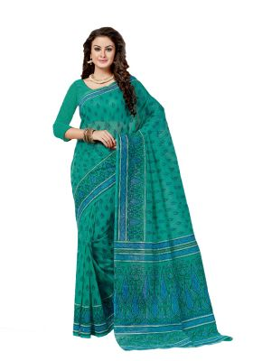 Buy De Marca Green Cotton Saree online