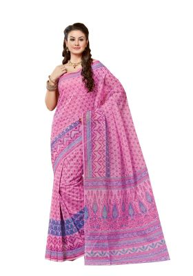 Buy De Marca Pink Cotton Saree online