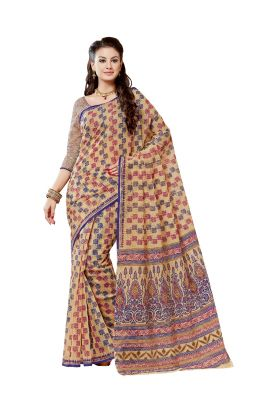 Buy De Marca Brown Cotton Saree online