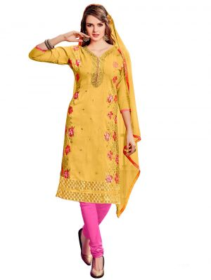 Buy De Marca Rani Pink Cotton Unstitched Dress Material (code - Lil469-3001) online