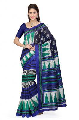 Buy De Marca Blue - Green - White Art Silk Saree (product Code - P-20) online