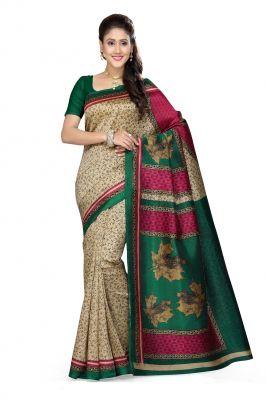Buy De Marca Beige - Green - Maroon Art Silk Saree (product Code - P-24) online