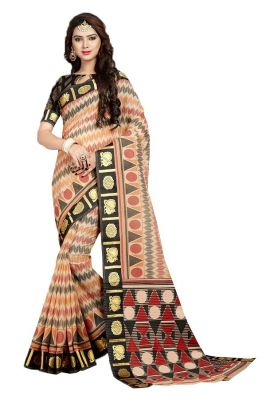 Buy De Marca Orange - Black Gadwal Silk Saree (code - De Marca Sb-1619) online
