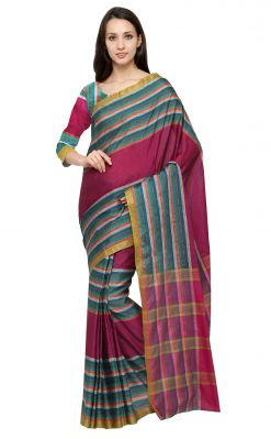 Buy De Marca Multi Colour Art Silk Saree (product Code - Tsksp13482) online
