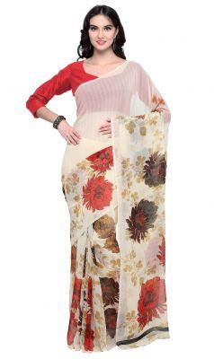 Buy De Marca Multi Colour Faux Georgette Saree (product Code - Tsnsh107) online