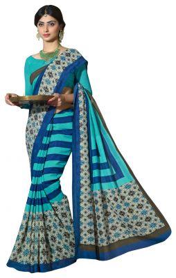 Buy De Marca Sky Blue Colour Art Silk Saree (product Code - Tsnvs25011) online