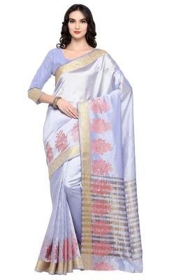 Buy De Marca Violet Colour Banarasi Silk Saree (product Code - Tsrka13492) online