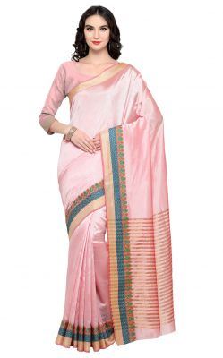 Buy De Marca Pink Colour Banarasi Silk Saree (product Code - Tsrka13493) online