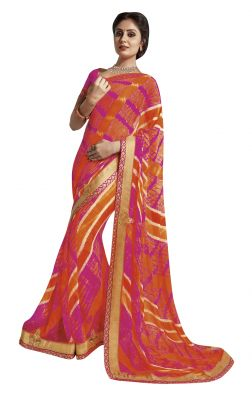 Buy De Marca Multi Colour Chiffon Saree (product Code - Tssgrlr5087) online