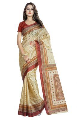 Buy De Marca Beige Colour Art Silk Saree (product Code - Tsvdpj11055) online