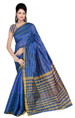 Buy De Marca Blue Colour Art Silk Saree (product Code - Tswtsn13332a) online