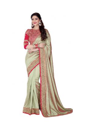 Buy De Marca Beige Colour Silk Saree (product Code - V17301) online