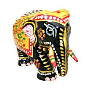 Buy Wooden Elephant Multi Color from Rajasthan online