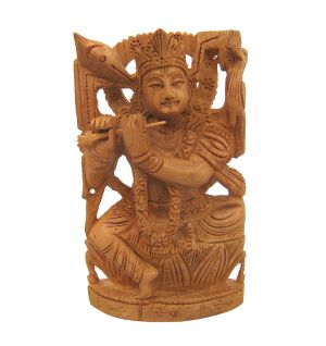 Buy Wooden Lord Krishna Statues from Rajasthan online