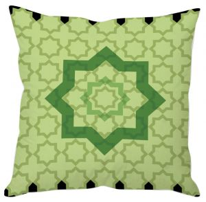 Buy Green Block Prints Cushion Cover online