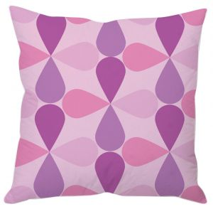 Buy Mauve Floral Abstract Cushion Cover online
