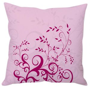 Buy Purple Leafy Abstract Art Cushion Cover online