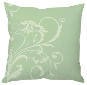 Buy Pastel Green Floral Cushion Cover online