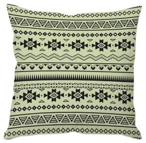 Buy Black Aztec Print Green Cushion Cover online