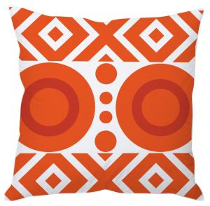 Buy Orange Abstract Art Cushion Cover online