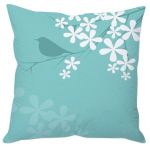 Buy Bird And Flowers Cushion Cover online