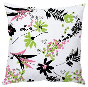 Buy White Floral Art Cushion Cover online