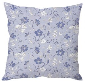 Buy Lilac Blue Floral Cushion Cover online