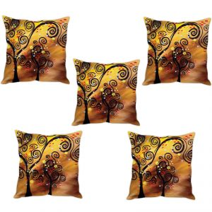 Buy Stybuzz Tree Abstract Art Cushion Cover- Set Of 5 online
