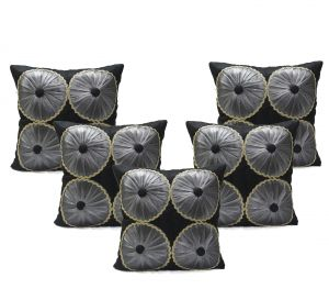 Buy Stybuzz Red Embroidered Cushion Covers - Set Of 5 online