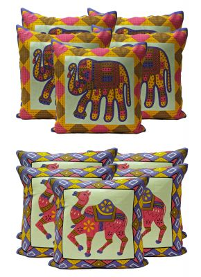 Buy Stybuzz Ethenic Cotton Cushion Cover Set Of 10 - Scten00028 online