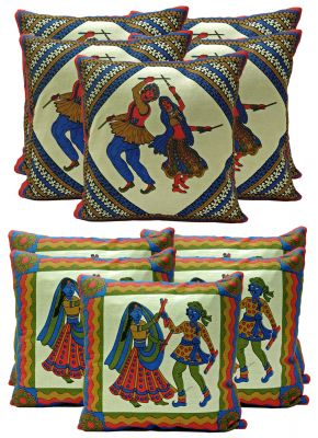 Buy Stybuzz Ethenic Cotton Cushion Cover Set Of 10 - Scten00032 online