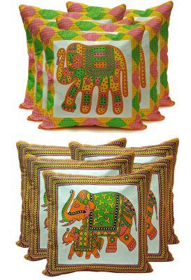 Buy Stybuzz Ethenic Cotton Cushion Cover Set Of 10 - Scten00041 online