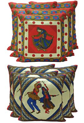 Buy Stybuzz ethenic cotton cushion cover Set of  10 online