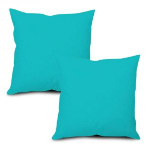 Buy Stybuzz Blue Solid Cushion Cover - Set of 2 online
