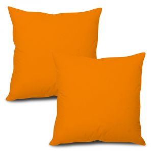 Buy Stybuzz Orange Solid Cushion Cover - Set of 2 online