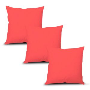 Buy Stybuzz Pink Solid Cushion Cover - Set of 3 online