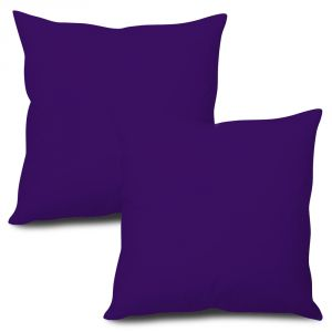 Buy Stybuzz Violet Solid Cushion Cover - Set of 2 online