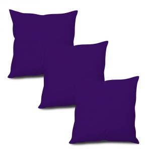 Buy Stybuzz Violet Solid Cushion Cover - Set of 3 online