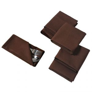 Buy Fabulloso Charming Chocolate Table Napkin Set online