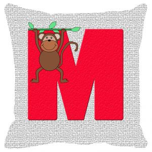 Buy Fabulloso Leaf Designs Alphabet Cushion Cover M - 8x8 Inches online