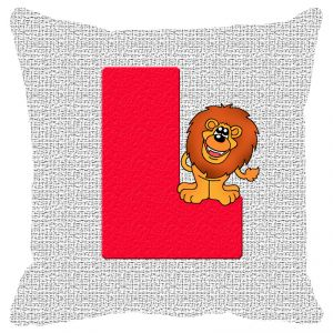 Buy Fabulloso Leaf Designs Alphabet Cushion Cover L - 12x12 Inches online