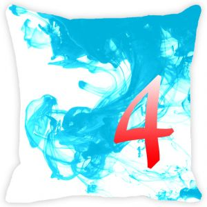 Buy Fabulloso Leaf Designs Numeric Four Cushion Cover - 8x8 Inches online