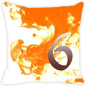 Buy Fabulloso Leaf Designs Numeric Six Cushion Cover - 8x8 Inches online