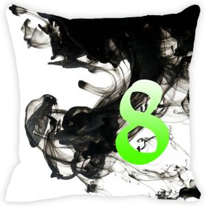 Buy Fabulloso Leaf Designs Numeric Eight Cushion Cover - 12x12 Inches online