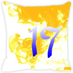Buy Fabulloso Leaf Designs Numeric Seventeen Cushion Cover - 16x16 Inches online