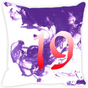 Buy Fabulloso Leaf Designs Numeric Nineteen Cushion Cover - 8x8 Inches online