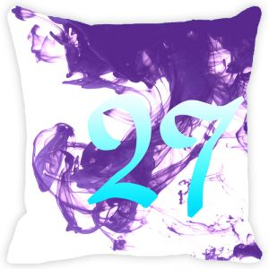 Buy Fabulloso Leaf Designs Numeric Twenty Seven Cushion Cover - 18x18 Inches online